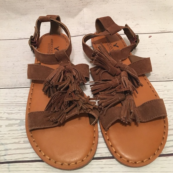 american eagle sandals american eagle outfitters american eagle size 7 tassel 12377