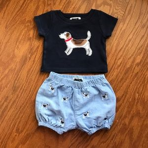 Mud Pie Other - Mud Pie Boys applique outfit, sz 6-9 mos