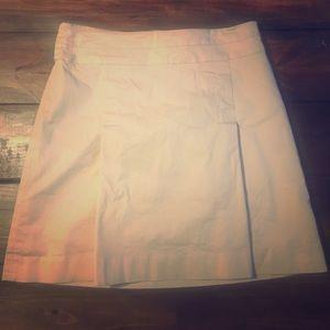 Banana Republic khaki pleated skirt