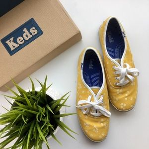 Yellow Daisy Keds Sneakers