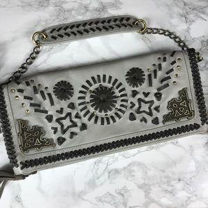 Nicole Lee Handbags - Nicole Lee Braided Tassel Grey Shoulder bag