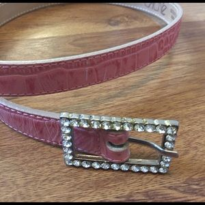 Cache Accessories - Pink Cache leather belt
