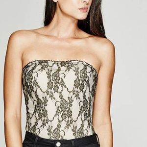 Guess by Marciano Tops - Marciano 'Lucia' Strapless Lace Bodysuit