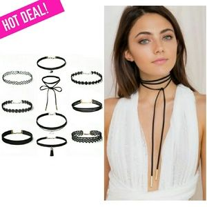 Lulu Jewelry - 10PCS Suede Chocker Set!
