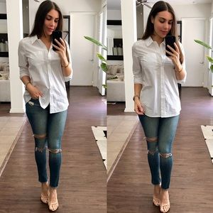 Tops - White Button Down Shirt