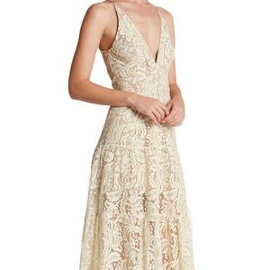 Dress the Population Dresses & Skirts - Boho Lace Fit &Flare Maxi Gown