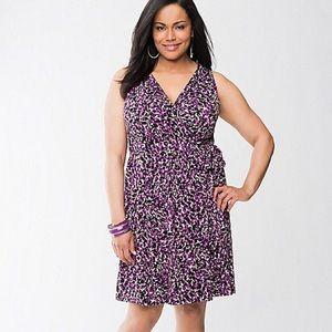Lane Bryant Dresses & Skirts - Lane Bryant Sleeveless Speckled Wrap Dress