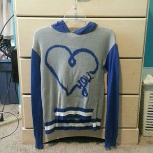 Heart long sleeve pullover sweater