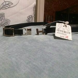 Gucci Accessories - *NWT Gucci Black Leather Skinny Belt*