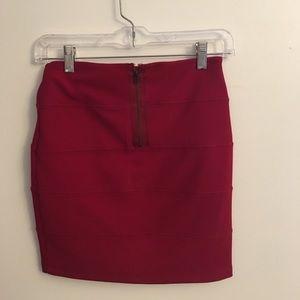 Berry Bodycon Mini Skirt
