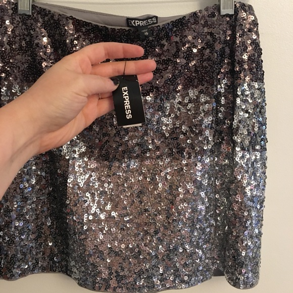 Express Skirts - Express Sequin Mini Skirt