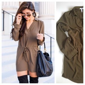 """Leith Dresses & Skirts - Leith """"Henley"""" Shirtdress in Olive Drab Nordstrom"""