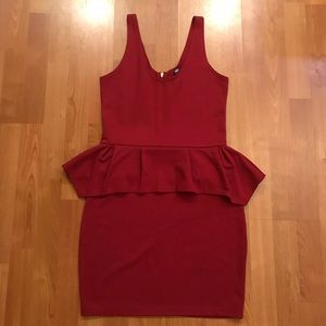 Poof Couture Dresses & Skirts - NWOT Red Peplum Dress