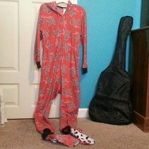 Gingerbread Full piece/ footie/ onesie pajamas