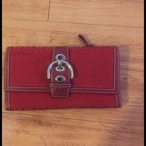 Coach signature print wallet