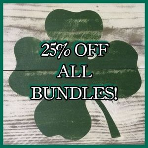 It's your lucky day!! 25% Off Bundles!