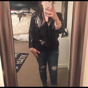 Kardashian Kollection Jackets & Blazers - Kardashian Black Cropped Sequence Blazer