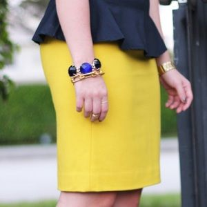 MOVING SALE❗️J. Crew Mustard Pencil Skirt