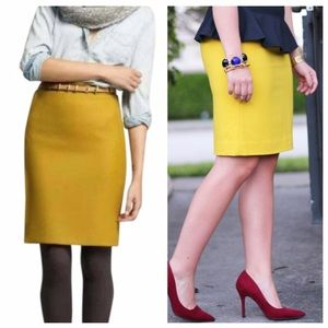 J. Crew Skirts - MOVING SALE❗️J. Crew Mustard Pencil Skirt