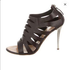 Dark brown Giuseppe Zanotti cage sandals