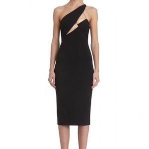 AQ/AQ Dresses & Skirts - AQ/AQ Black Pembroke Structured Midi Dress