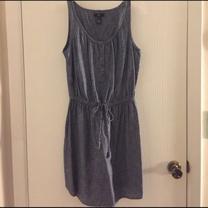 Gap dark chambray summer dress