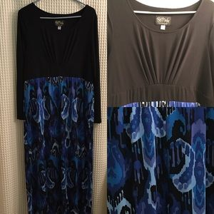 Bob Mackie Dresses & Skirts - Long Sleeved Printed Maxi