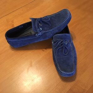 To Boot Other - To Boot New York men's blue suede drivers
