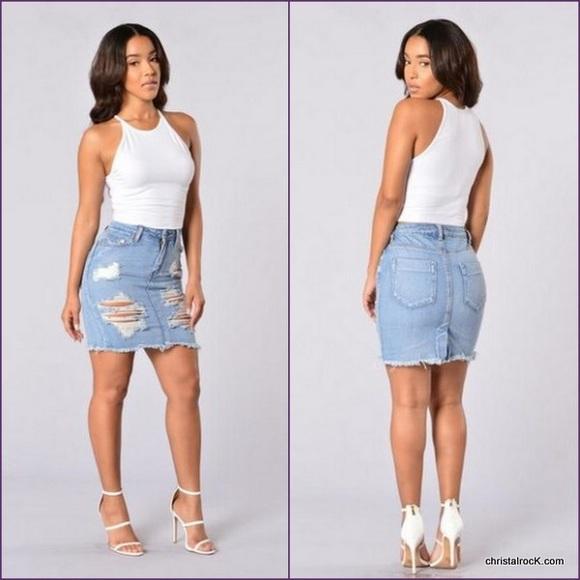 Fashion Nova Skirts Denim Skirt Poshmark