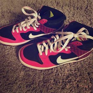 Nike Shoes - 💫Price Drop!💫Pink black & white Nike high tops.