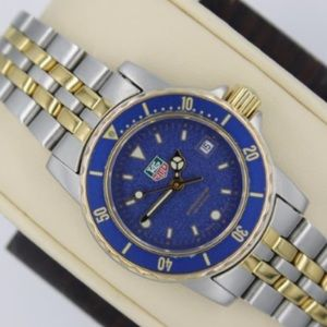Tag Heuer Accessories - Tag Heuer WD1423 1500 Professional Blue SS Watch