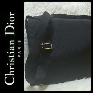 Dior Handbags - Dior Italy Canvas Leather Trim Messenger Bag