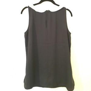LOFT Tops - Navy and white Peter Pan collar shell