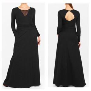 eshakti Dresses & Skirts - New Eshakti Black Knit Draped Maxi Dress L 14