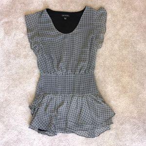 PRINTED RUFFLE DRESS FROM MANGO! Size XXS