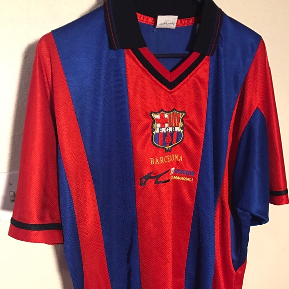 huge selection of 3718f 1494a FC Barcelona football shirt circa 1998-2002, no #