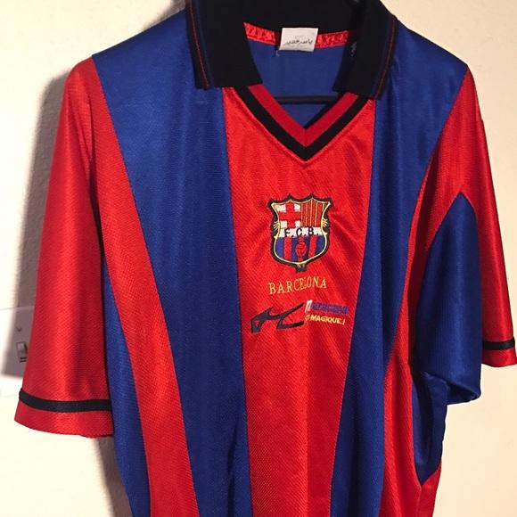 huge selection of 6dc90 63546 FC Barcelona football shirt circa 1998-2002, no #