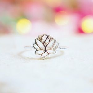Twilight Gypsy Collective Jewelry - Silver Lotus Ring