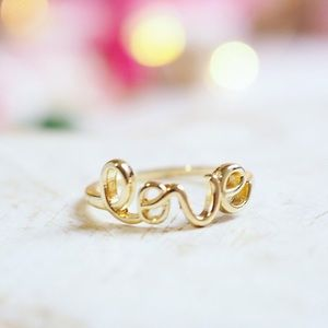 Twilight Gypsy Collective Jewelry - Gold Love Ring
