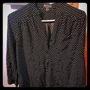 Market & Spruce Tops - Black and white polka dot blouse