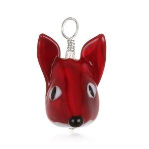 Roxann Slate Jewelry - Glass Fox Pendant on Leather