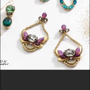 Silpada Jewelry - Silpada brass, purple & crystal earrings NWT