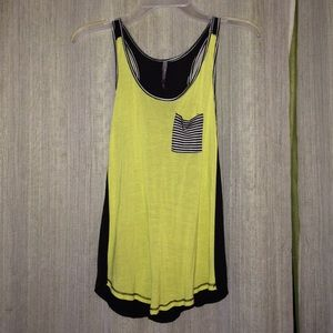 Nollie Tops - relaxed-fit, razor back tank top w/pocket