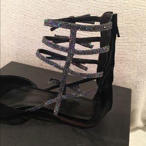 0dc9c630c7c6b6 J. Crew Shoes - BNIB J. Crew Velvet Bow Gladiator Flats