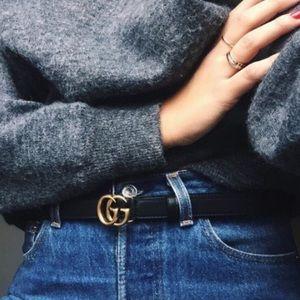 de8db0da Gucci black double G belt size 70 NWT