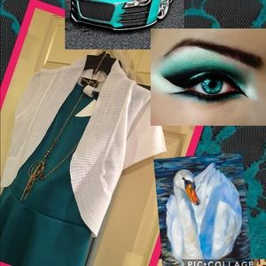 Hype Dresses & Skirts - Teal is Real Dress and Shrug Set