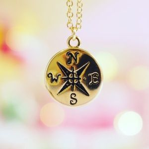 Twilight Gypsy Collective Jewelry - Gold Compass Necklace