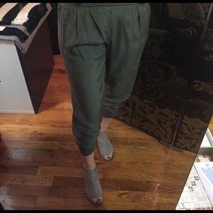 ATM Anthony Thomas Melillo Pants - Army Green Silk pants