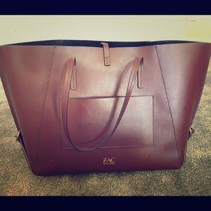 Auth like new Zac Posen Eartha tote bag brown