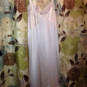 Vintage Other - SEXY SILKY VINTAGE SLIP OR DRESS WITH LACE